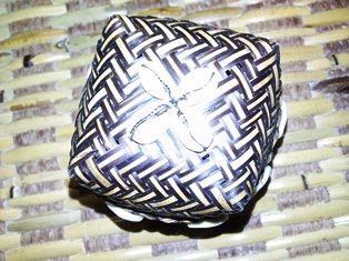 Embroidered Box Khat Kaligrafi Islam Kulit Kambing