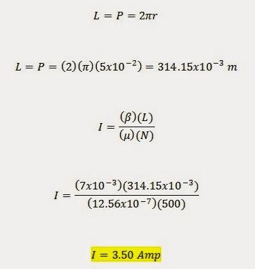 Longitud de un solenoide formula