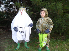 Halloween: Garrett = Ghost, Drew = Dragon