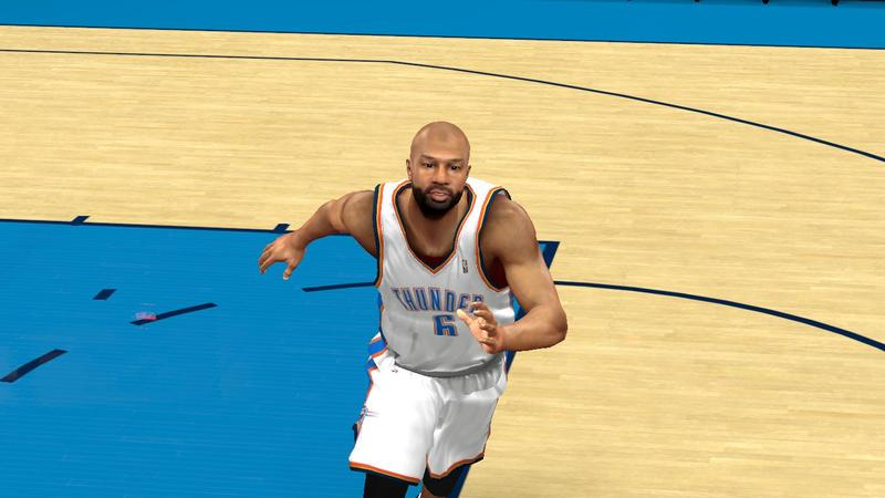 NBA 2K13 Derek Fisher Cyberface Patch