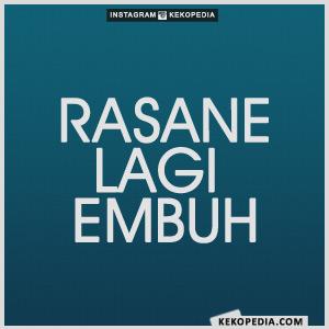 Gambar Dp BBM Bahasa Jawa Rasane Lagi Embuh