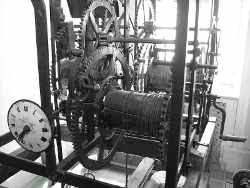 old tower clock gears
