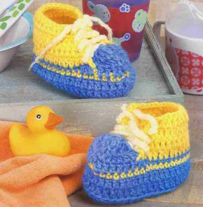Tenis de Bebé a Crochet