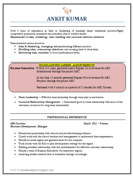 ... Resume Samples with Free Download: Marketing Finance Resume Sample Doc