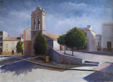 2017-12  Campanario y plaza; Fuerte del Rey, Jaén (20P