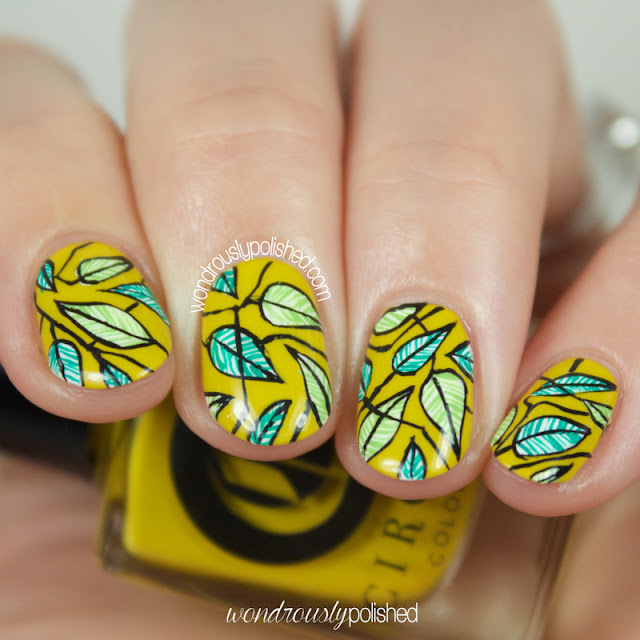 cirque hustle leaf nail art