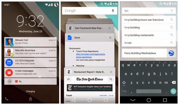Android L 5.0, Versi Android Terbaru Resmi Diperkenalkan