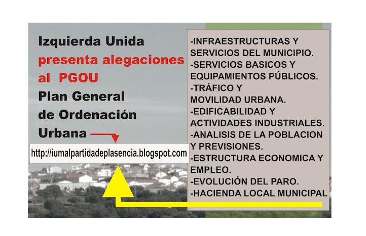 ALEGACIONES AL PLAN GENERAL DE ORDENACIÓN URBANA (PGOU)