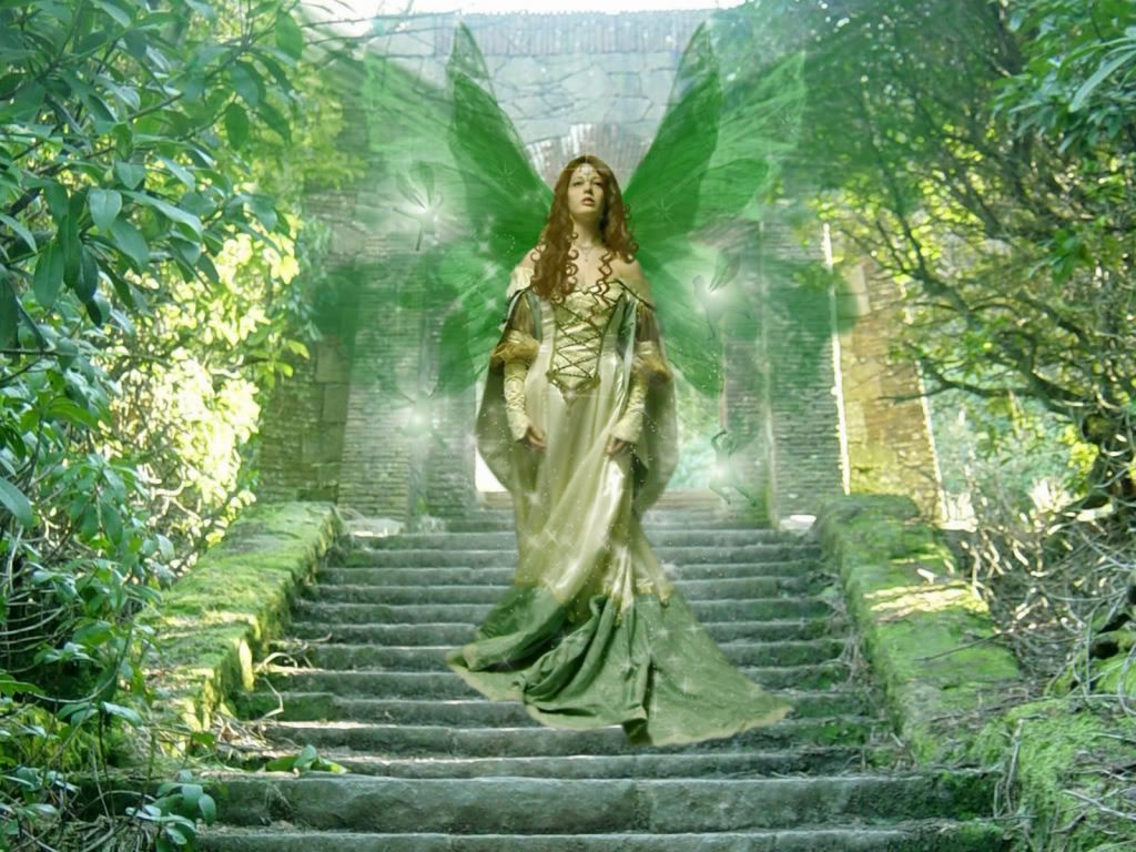 green angel in springtime - photo #1
