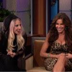 Sofía Vergara con Lady Gaga en Leno