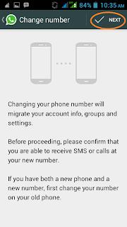 konfirmasi perubahan nomer handphone