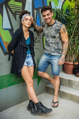 Ciça ( Julia Konrad ) e Uodson ( Lucas Lucco ). Crédito: Globo/Renato Rocha Miranda