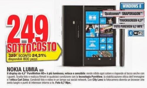 Con il nuovo sottocosto Comet a 249 euro potete acquistare il Lumia 920.