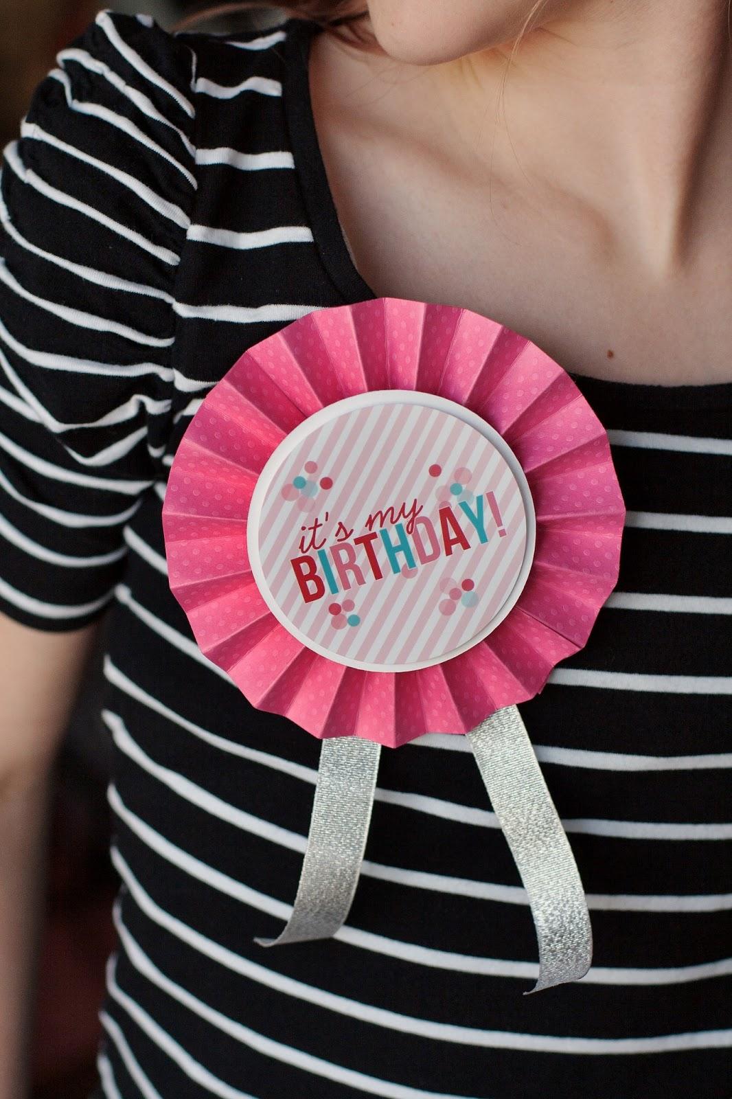 Printable Birthday Ribbon ~ Birthday badges eighteen