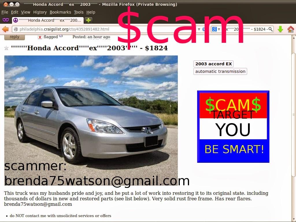 Craigslist Scam Ads Detected 02 27 2014 Update 2