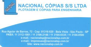 NACIONAL CÓPIAS S/S LTDA. Tel: (11) 3112 1001