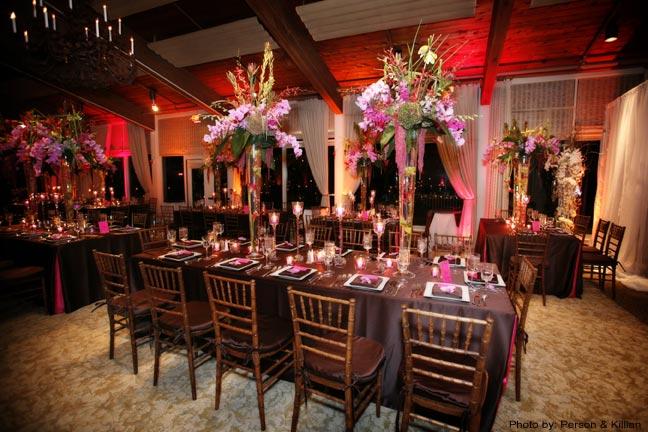 decoracao casamento marrom e rosa