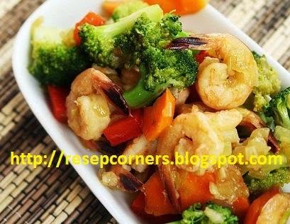 Resep Cah Brokoli Udang Resep Tumis Udang Brokoli