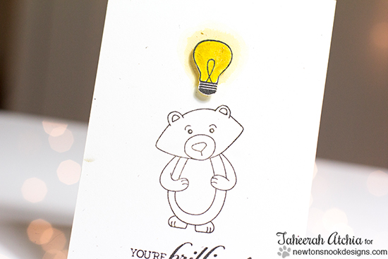 Smart Winston Bear Card by Taheerah Atchia | Newton's Nook Designs