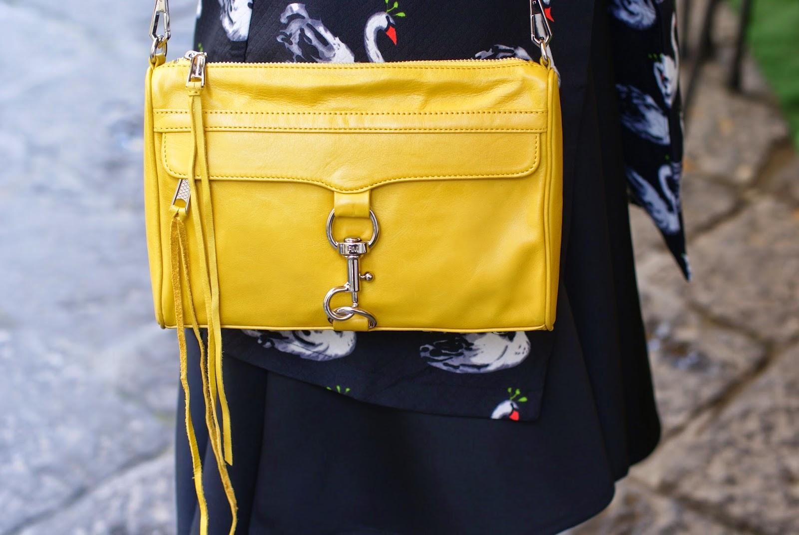 Rebecca Minkoff MAC clutch, yellow MAC bag, Fashion and Cookies fashion blogger, fashion blog