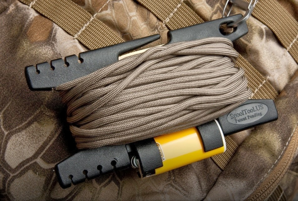 The paracord blog keep it together man the spool tool for Paracord lighter holder
