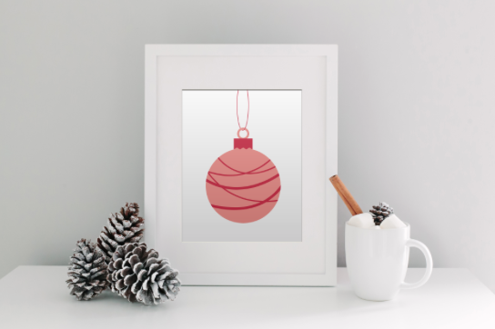 Picture of Designs by IO Swinging Bauble Print