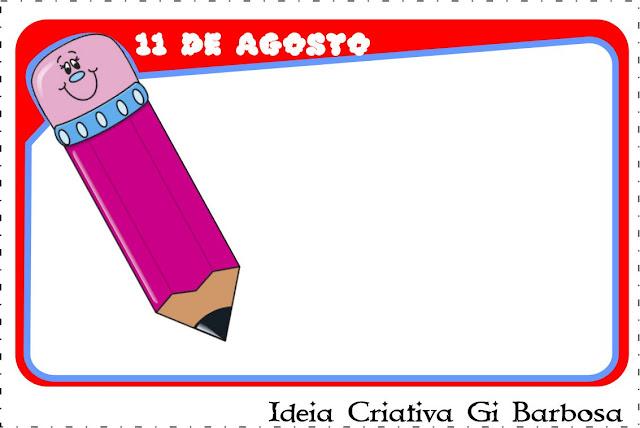 Cartão Dia do Estudante  com frase para Imprimir
