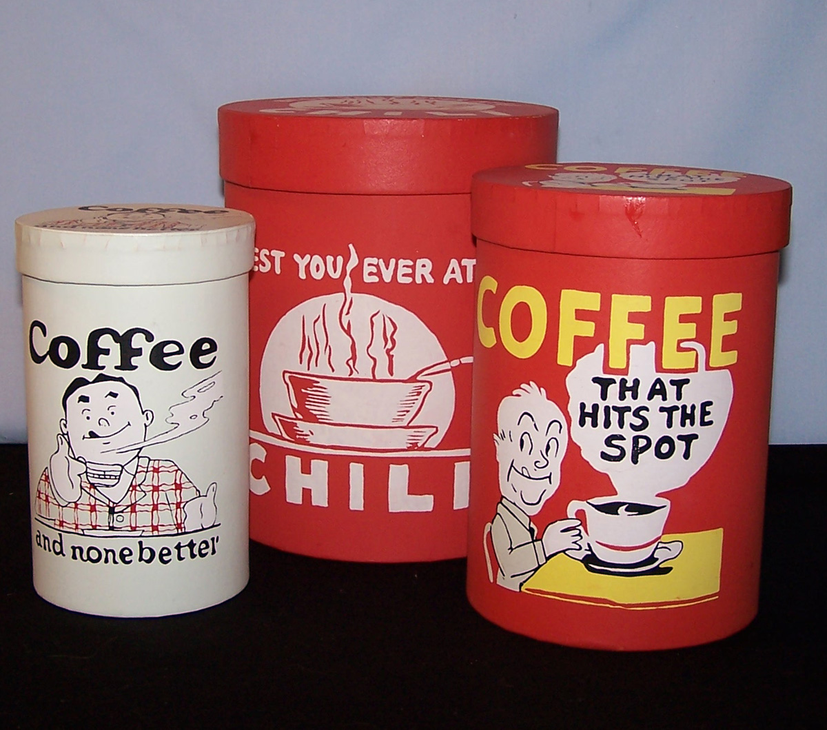 martha 39 s vintage attic retro canisters coffee and chili