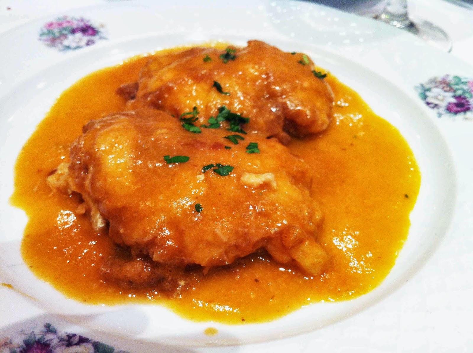 Nuestras escapadas familiares nuef restaurante oncalada - Merluza rellena de marisco al horno ...