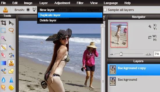 cara membuat efek lomografi online