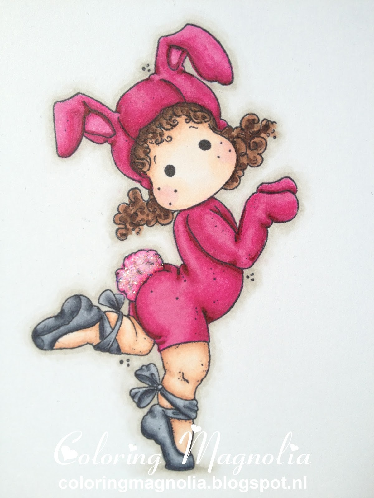 Coloring Magnolia Stamp 2013 Little Easter Collection - Ballerina Bunny Tilda