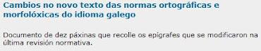 Novas normas en galego