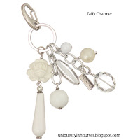 Miche Taffy White Rose Purse Charm
