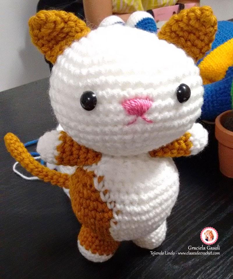 Único Hola Gatito Amigurumi Patrón De Crochet Molde - Manta de Tejer ...