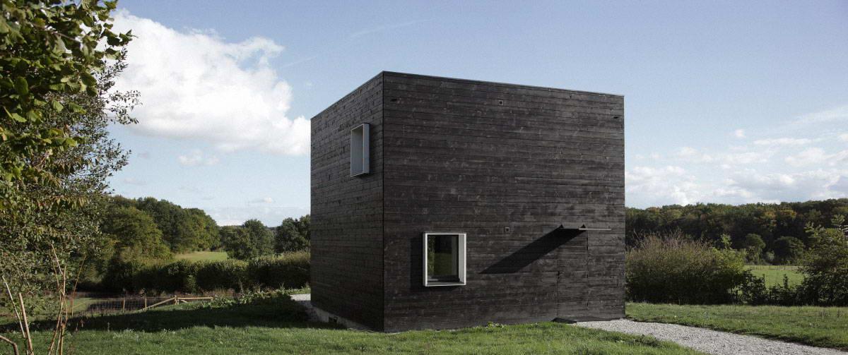Maison cube by beckmann n 39 thepe x for Facade maison cubique
