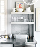 I especially like the stainless steel counters sand white marble, .