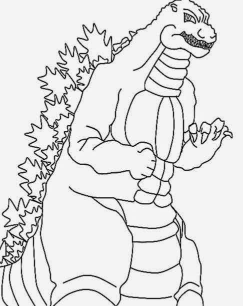 godzilla coloring pages coloring pages printable - Printable Godzilla Coloring Pages