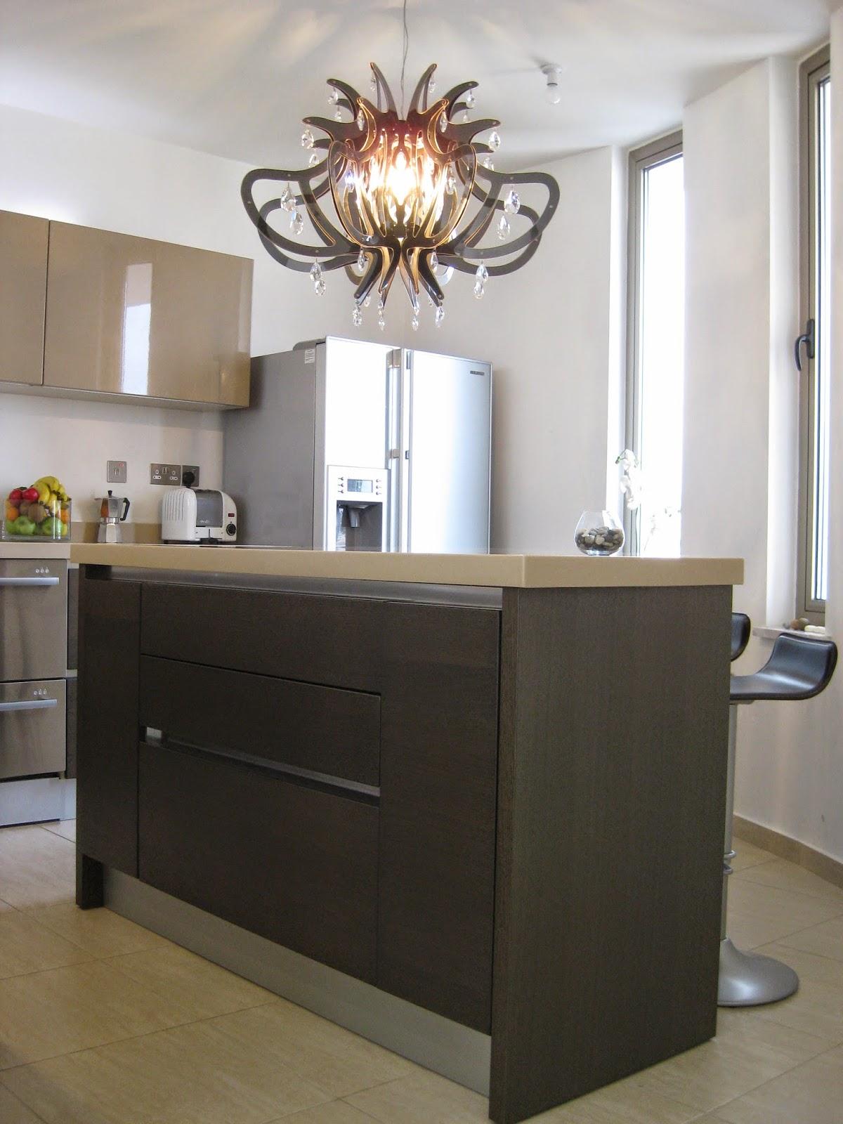 Kitchen island.  Design: www.brightspacedesign.com