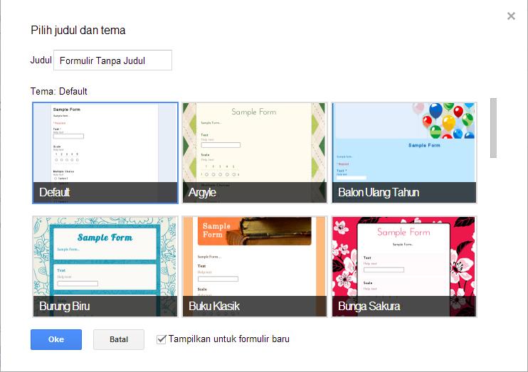 Formulir Kontak Google Drive