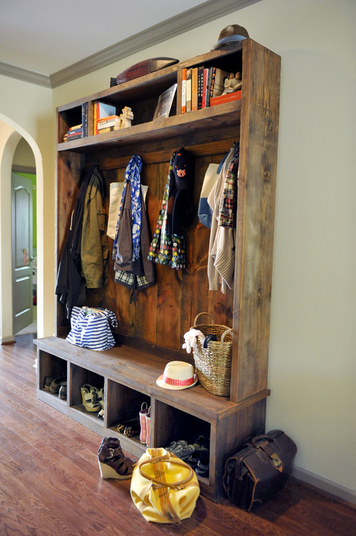 Houzz Rustic Foyer : Cherished treasures designing an entryway closet