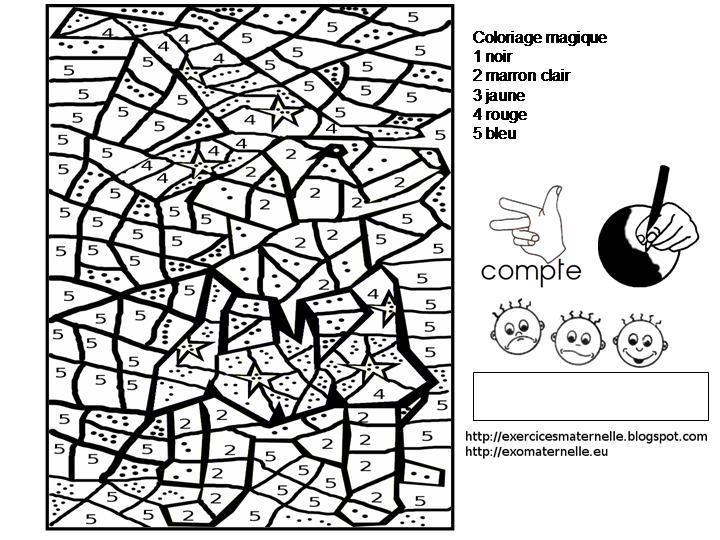 Maternelle coloriage magique chien d 39 halloween - Coloriage magique loup ...