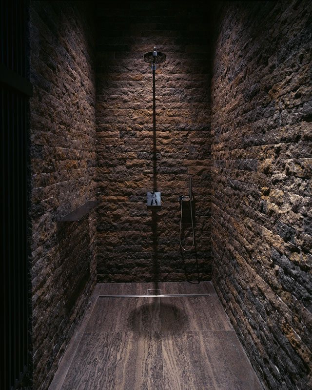 Iluminacion Baño Rustico:Bathroom Shower Stone