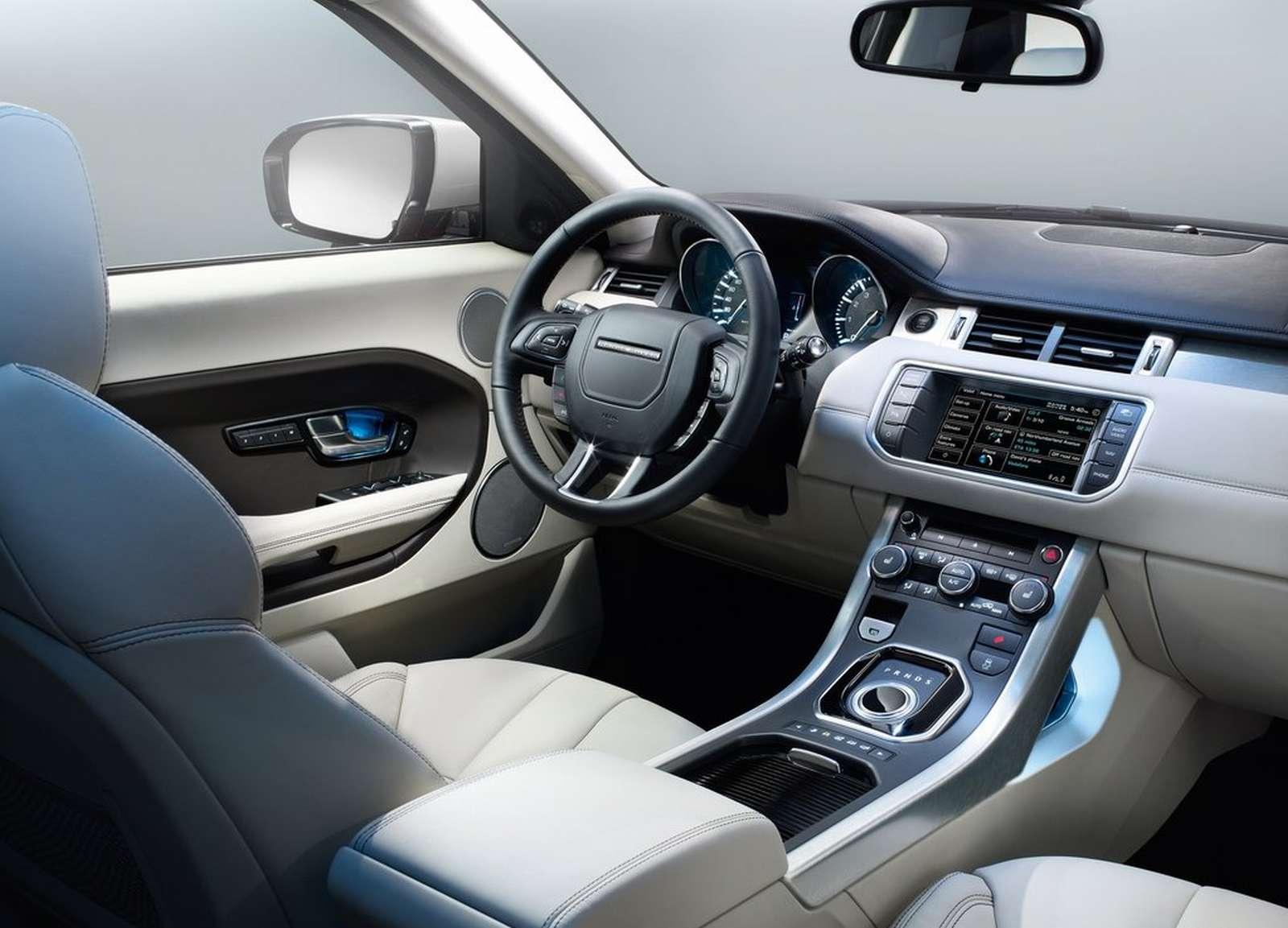 Automobiles tout savoir sur les marques rang rover evoque for Interieur range rover evoque