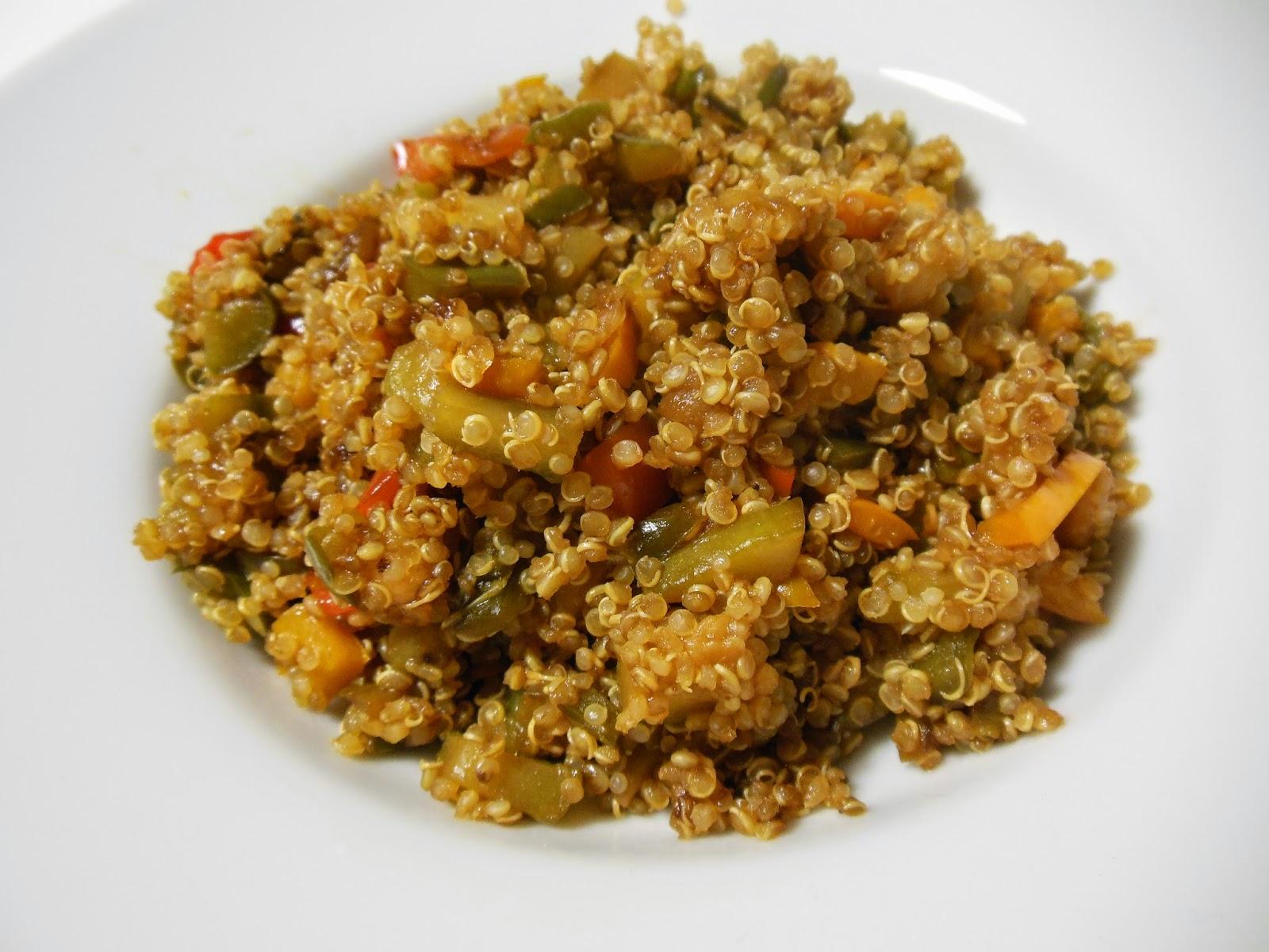 Avena y canela quinoa con verduras y salsa de soja por qu comer quinoa - Cocinar quinoa con verduras ...