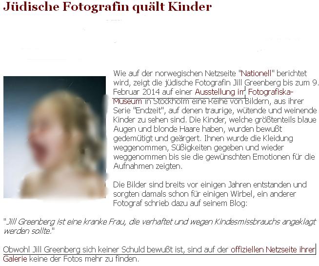 Jüdische Fotografin quält Kinder