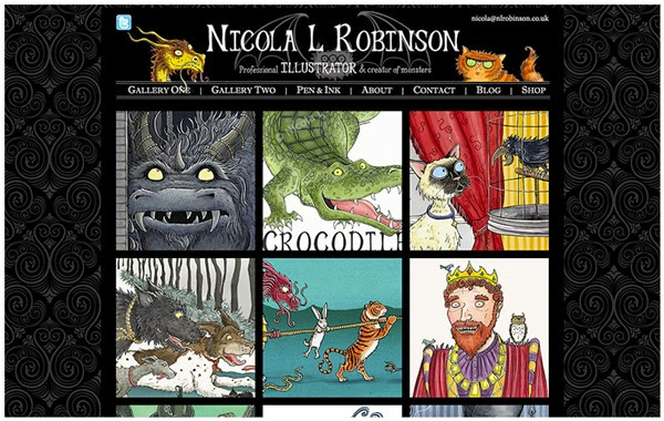 Nicola L Robinson Illustration portfolio website - www.nlrobinson.co.uk