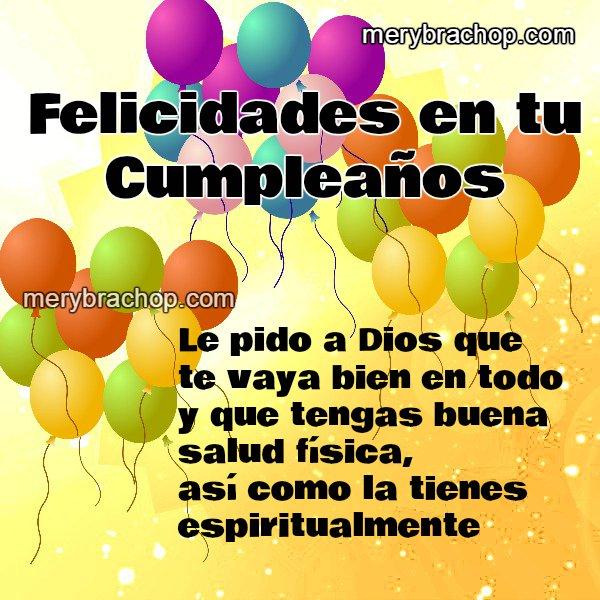 tarjeta de cumpleaños mensaje cristiano para hombre o mujer.  Bonito saludo de cumple, felicitaciones, feliz cumpleaños.