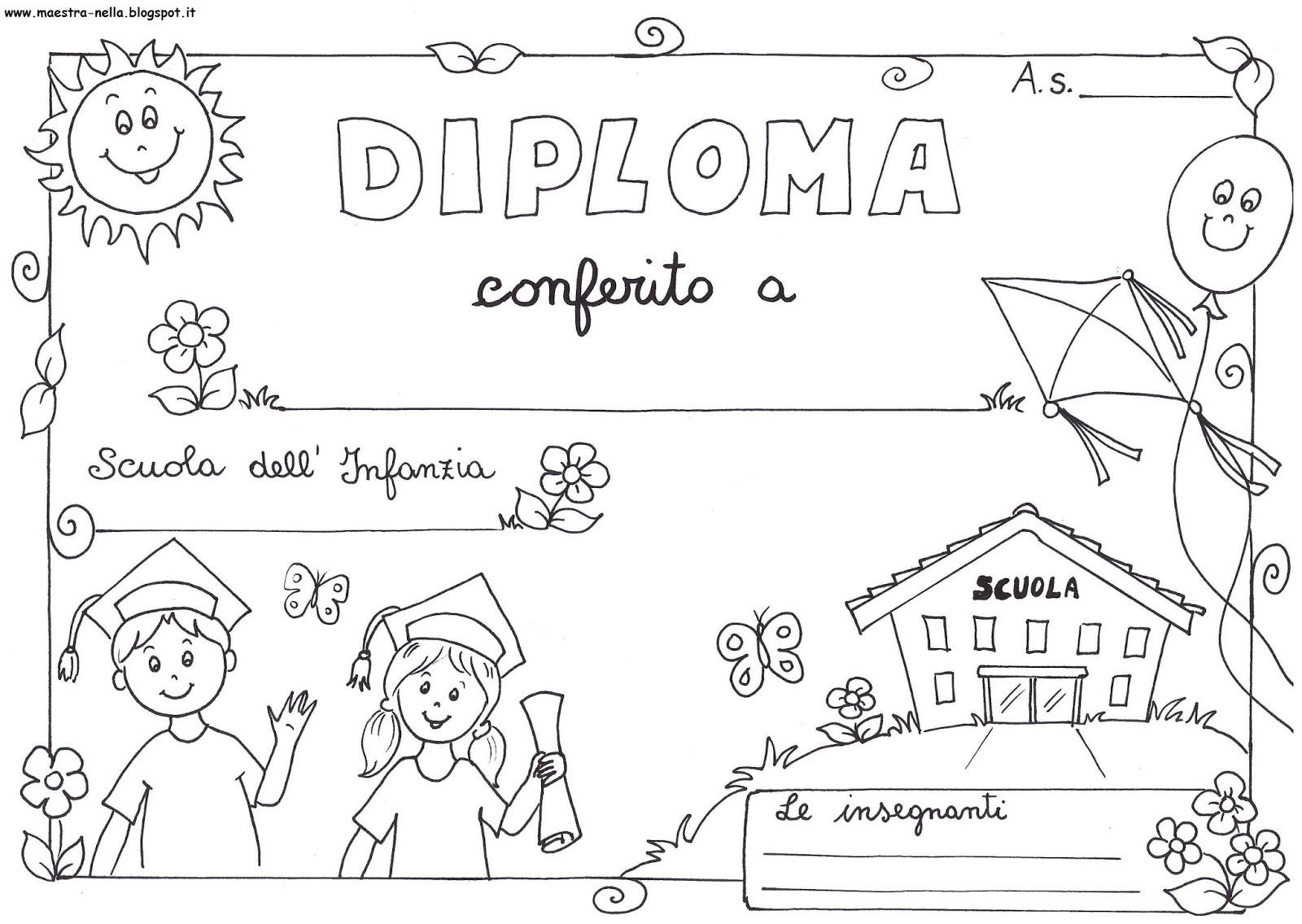 Maestra nella diplomi bambini - Immagini di colorare le pagine del libro da colorare ...