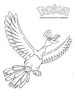 Pokemon Coloring Pages Ho oH