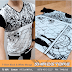 T-Shirt Black & White Manga